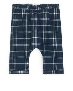 Twill Trousers Dark Blue/check