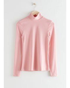 Long Sleeve Turtleneck Pink