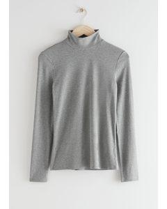Long Sleeve Turtleneck Grey Melange
