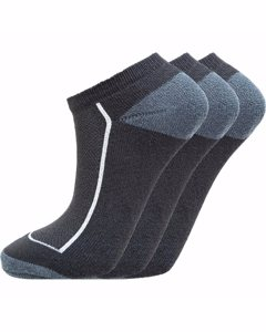 Boron Low Cut Socks 3-pack Black