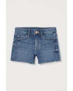 Comfort Stretch Jeansshorts Denimblå