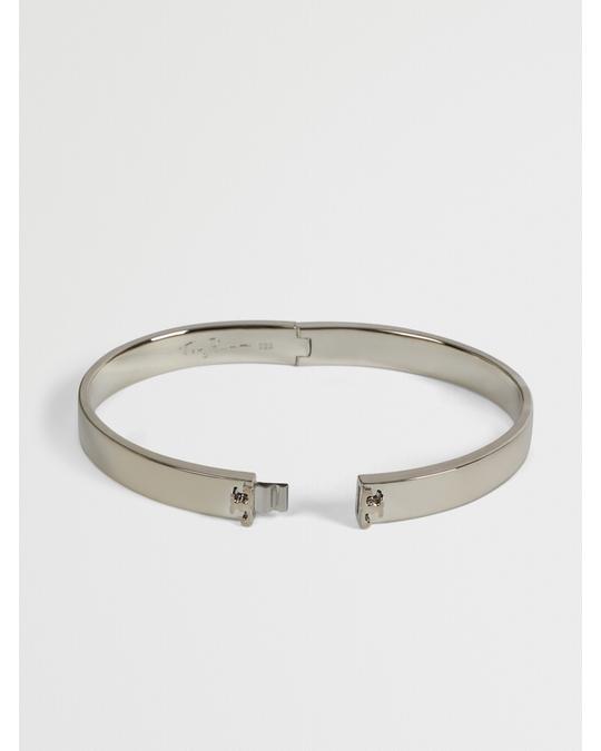Tory Burch Kira Sterling Silver Hinge Bracelet Silver