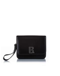 Balenciaga B Leather Crossbody Bag Black