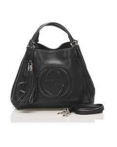 Gucci Soho Leather Satchel Black