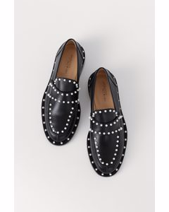 Loafer aus Leder Schwarz