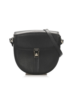 Burberry Leather Crossbody Bag Black