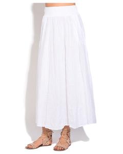 Fluid Long Skirt With Pockets And Elastic Waistband