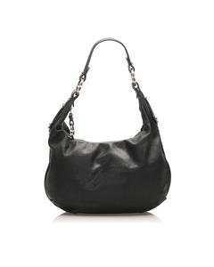 Fendi Leather Hobo Bag Black