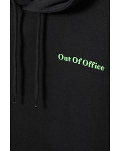 Standard Printed Hoodie Black/out Of Office
