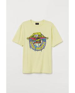 T-shirt Met Motief Geel/spongebob Squarepants