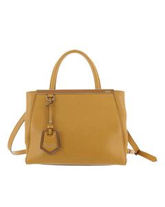 Fendi Petit 2jours Leather Satchel Yellow