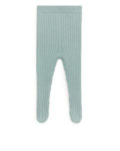 Ribbed Newborn Leggings Light Turquoise