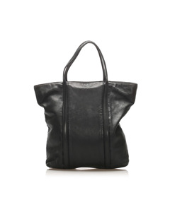 Loewe Leather Tote Bag Black