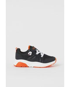 Sneakers Met Print Zwart/mickey Mouse
