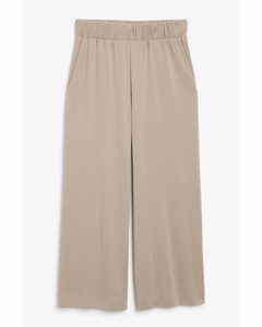 Super-soft Trousers Taupe Grey