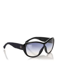 Chanel Butterfly Tinted Sunglasses Black