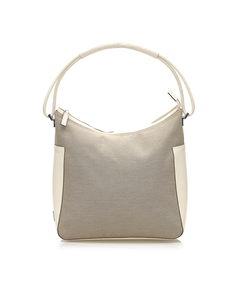 Gucci Canvas Shoulder Bag Brown