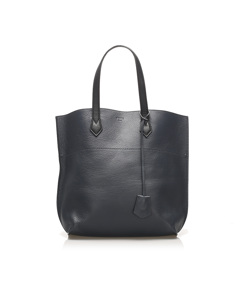 Fendi All Shopper Leather Tote Blue