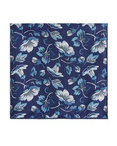 Silk Pocket Square Blue