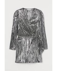 Korte Jumpsuit Met Rok Zwart/zilverkleurig