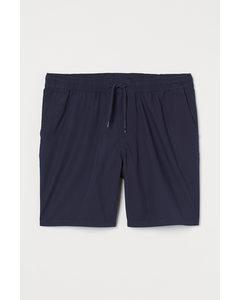 Baumwollshorts Regular Fit Marineblau
