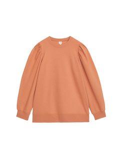 Puff Sleeve Sweatshirt Dusty Orange