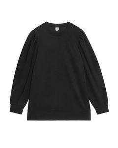 Puff Sleeve Sweatshirt Black