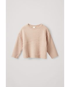 Ribbed Cotton-wool Jumper Beige