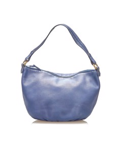 Loewe Anagram Leather Shoulder Bag Blue