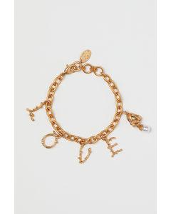 Armband mit Anhängern Goldfarben