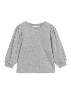Sweatshirt mit Puffärmeln Graumeliert
