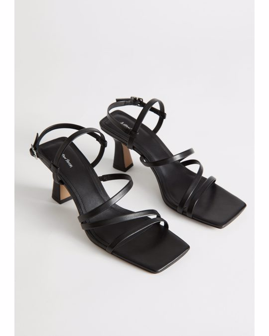 & Other Stories Strappy Leather Sandalettes Black