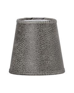 Queen Lampskärm Läder Grå 12cm