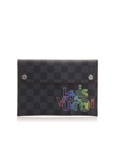 Louis Vuitton Damier Graphite Alpha Triple Pouch Mm Black