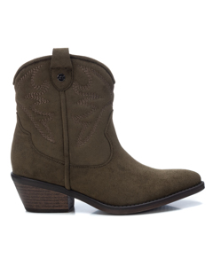 Microfiber Ladies Ankle Boots Kakhi