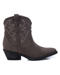 Microfiber Ladies Ankle Boots Taupe