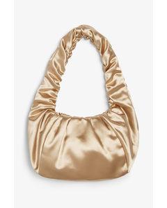 Small Round Handbag Golden Beige