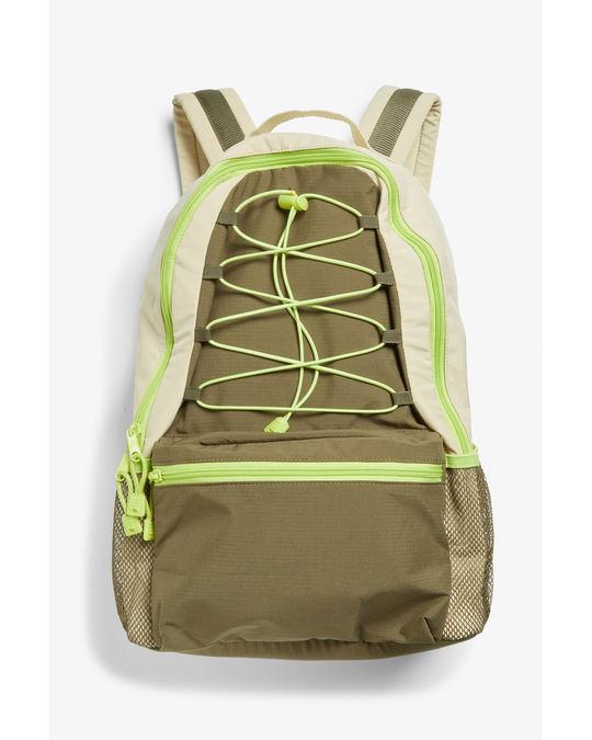 Monki Zippered backpack Beige and green