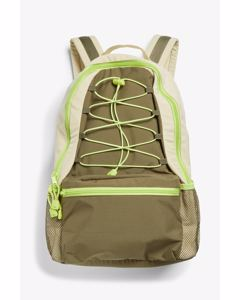Zippered backpack Beige and green
