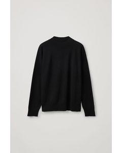 Seamless Merino Wool Jumper Black