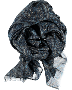 Scarf Big Paisley Blue Mix