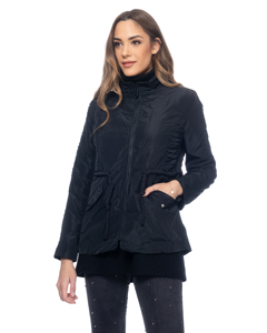 Jacket With Zipper Clousure And Flap Pockets