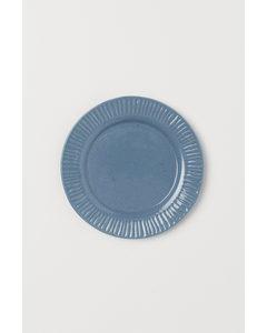 Kleiner Keramikteller Blaugrau