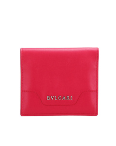 Bvlgari Leather Card Case Red