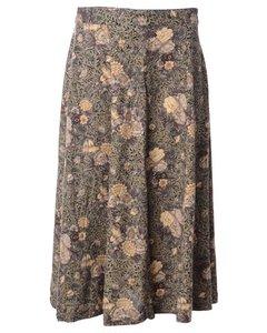 1990s Petites Floral Full Skirt