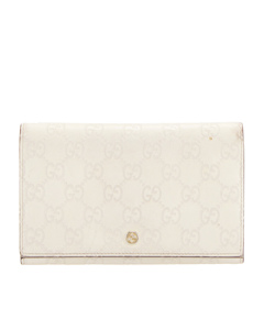 Gucci Guccissima Continental Long Wallet White
