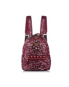 Mcm Stark Special Studded Leather Backpack Pink