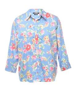 1990s Chaps Floral Shirt
