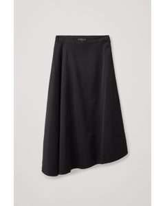Asymmetric A-line Skirt Black