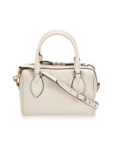 Gucci Guccissima Leather Boston Bag White
